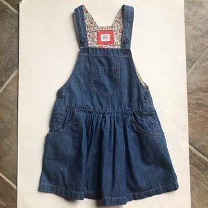 Mini Boden Denim Jean Dress Size 6-7
